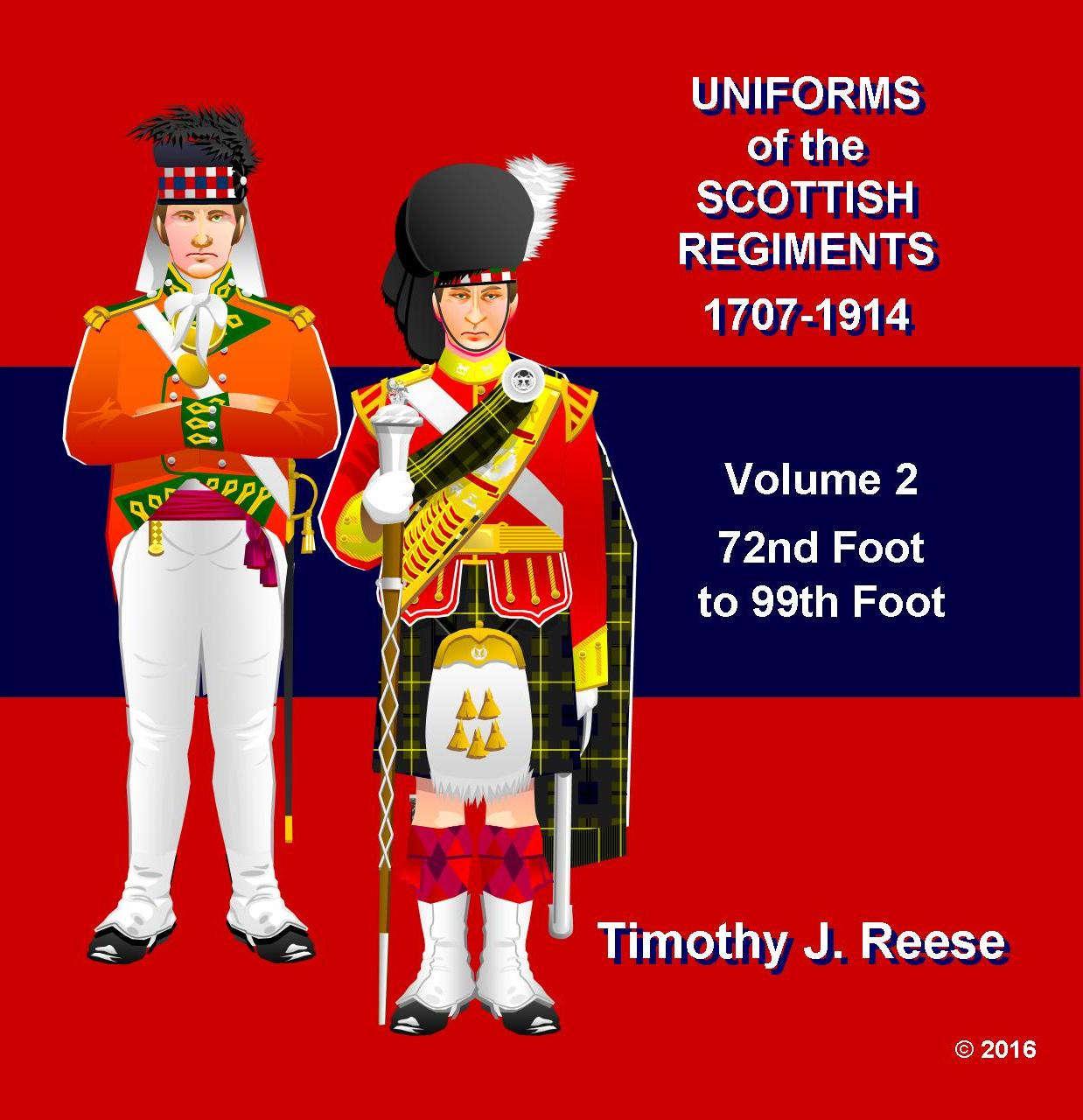 SAMPLE PLATE: Uniforms of the Scottish Regiments, 1707-1914, Vol. 2, 72nd Foot to 99th Foot