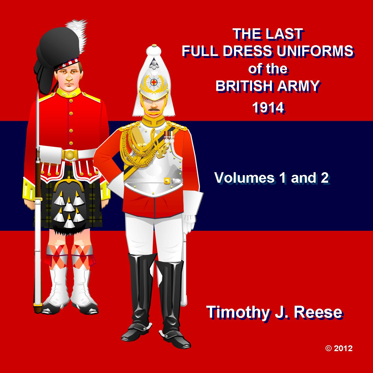 SAMPLE PLATE: The Last Full Dress Uniforms of the British Army, 1914, Valumes 1 and 2